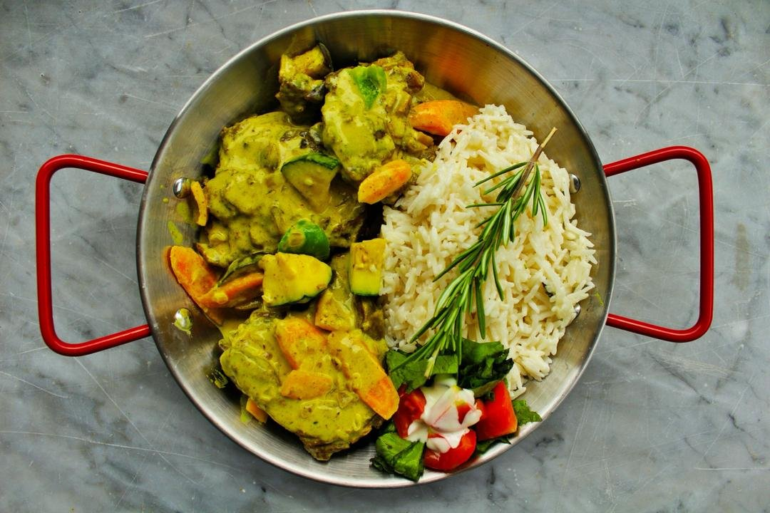 Green Goat Curry
