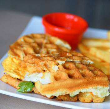 Crisp, buttery and fluffy. Waffles are a breakfast and brunch staple, enjoyed sweet or savoury.   	Sweet & Savoury Waffle Sandwich 		 			 	 			 	 			 	 			  … View Details
