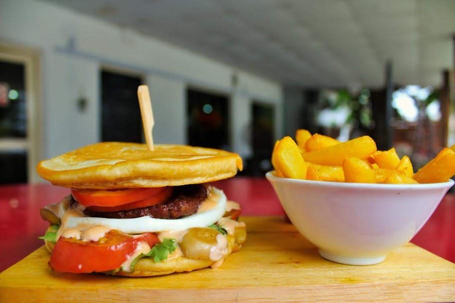 Beef & Egg Pancake burger